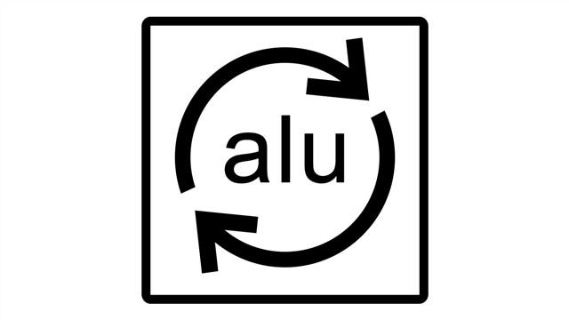 نماد آلومینیوم قابل بازیافت