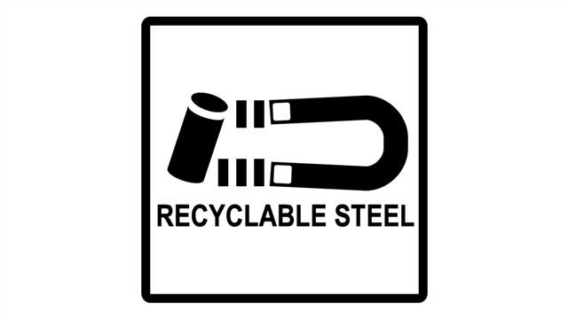 نماد فولاد قابل بازیافت