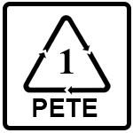 نماد PETE/PET(پلی اتیلن ترفتالات)