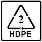 نماد HDPE(پلی اتیلن با چگالی بالا)
