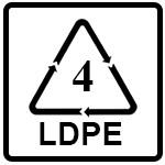 نماد LDPE(پلی اتیلن با چگالی کم)